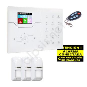 Kit alarma tres detectors de presencia