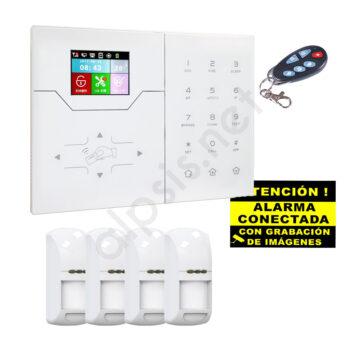 Kit alarma 4 detectors de presencia